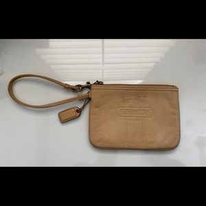 Authentic Small Leather Coach Wristlet